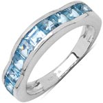 Topaz Blue:Square/3.00mm 11/2.25 Ctw #28323v3