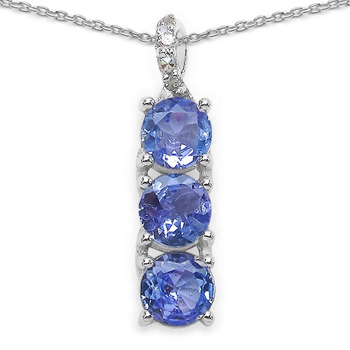 Diamond White:Round 4/0.01cts + Tanzanite:Round/4.00mm 3/0.79cts #33583v3