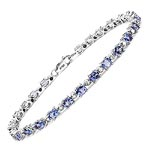 Tanzanite:Oval/4x3mm 26/4.42 ctw + Diamond White:Round/1.20mm 26/0.23 ctw #28421v3