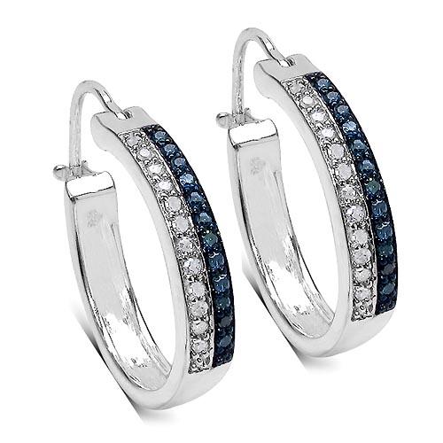 Diamond Blue:Round/0.95-1.00mm 24 /0.14 ctw + Diamond White:Round/0.95-1.00mm 24 /0.14 ctw #33408v3