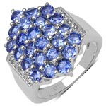 Tanzanite:Round/3.00mm 24/2.40 ctw + Diamond White:Round/1.00mm 10/0.06 ctw #28303v3
