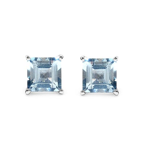 Aquamarine:Square/6.00mm 2/1.90 ctw #33495v3