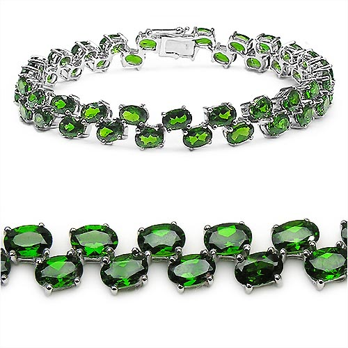 Chrome Diopside:Oval/6x4mm 46/21.62 Ctw #33250v3