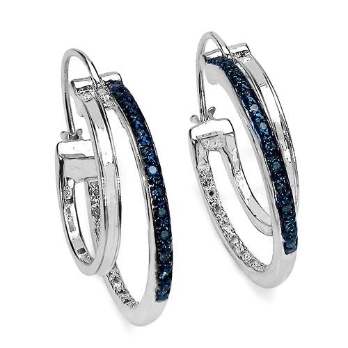 Diamond Blue:Round/1.00mm 30/0.17 ctw + Diamond White:Round/1.00mm 30/0.17 ctw #33425v3