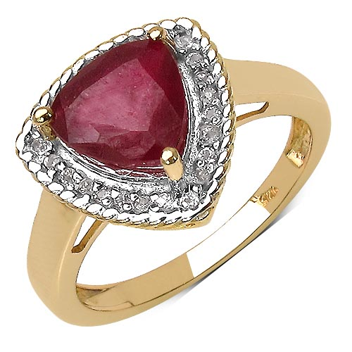 Ruby:Trillion/ 8.00mm 1 /2.50 ctw + Topaz White:Round/1.00mm 25 /0.13 ctw #33790v3