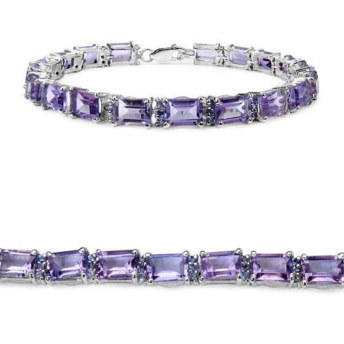 Amethyst:Octagon/7x5mm 19/19.00 Ctw + Tanzanite:Round/1.50mm 57/1.14 Ctw #33253v3