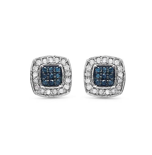Diamond Blue:Round/0.95-1.00mm 18/0.10 ctw + Diamond White:Round/0.95-1.00mm 34/0.19 ctw #33406v3