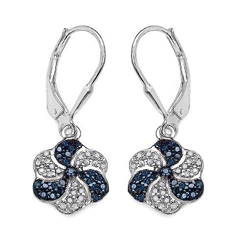 Diamond Blue:Round/0.95-1.00mm 42 /0.24 ctw + Diamond White:Round/0.95-1.00mm 42 /0.24 ctw #33407v3