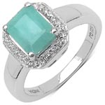 Emerald:Octagon/8x6mm 1/1.60 ctw + Topaz White:Round/1.00mm 26/0.13 ctw #28369v3