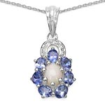 Opal:Oval/7x5mm 1/0.55 ctw + Tanzanite:Oval/4x3mm 7/1.19 ctw #28184v3