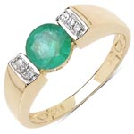 Emerald:Round/6.00mm 1/0.90 ctw + Cubic Zircon White:Round/1.00mm 6/0.06 ctw #28357v3
