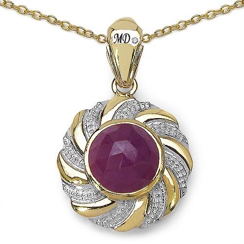 Sapphire Pink:Round/10.00mm 1/5.31 ctw + Diamond White:Round/0.90mm 1/0.01 ctw #29484v3