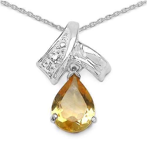 Citrine:Pears/9x6mm 1/1.10 ctw #29698v3