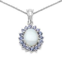 Sapphire Blue:Round/2.20mm 24/1.44 ctw + Sapphire Blue:Round/1.70mm 2/0.07 ctw + Topaz White:Round/1.20mm 4/0.04 ctw #29700v3
