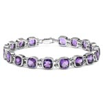 Amethyst:Cushion/6.00mm 18/15.84 ctw #28003v3