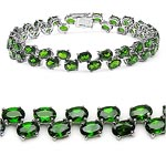 Chrome Diopside:Oval/6x4mm 46/21.62 Ctw #27999v3