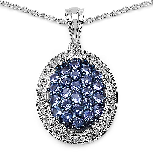 Tanzanite:Round/2.40mm 24/1.56 ctw + Cubic Zircon White:Round/1.30mm 34/0.68 ctw #29441v3