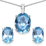Topaz Blue:Oval/9x7mm 3/7.50 ctw #28119v3