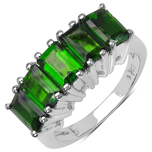 Chrome Diopside:octagon/6x4mm 5/3.50 ctw #29556v3
