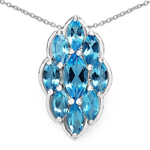 Topaz Blue:Marquise/10x5mm 1/1.20 ctw + Topaz Blue:Marquise/7x3.50mm 8/3.68 ctw #29727v3
