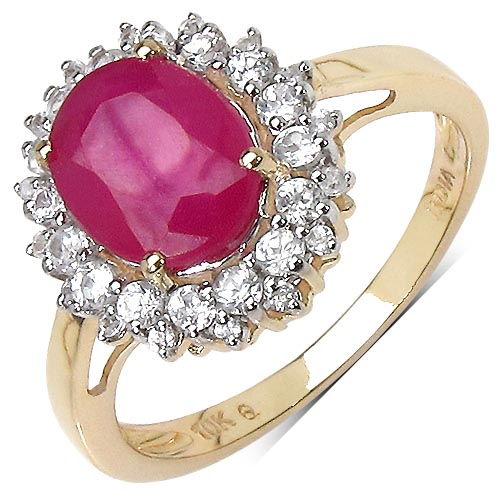 Ruby:Oval/9x7mm 1/2.51 ctw #29587v3