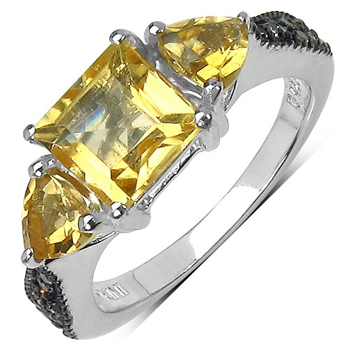 Citrine:Square/ 7.00mm + Citrine:Trillion/ 5.00mm 2/0.90 ctw #29589v3