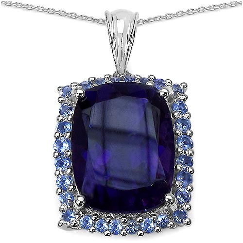 Amethyst:Cushion/ 16x12mm 1 /10.00 ctw + Tanzanite:Round/1.80mm 28 /0.84 ctw #29445v3