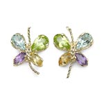 Amethyst:Marquise/4x2mm 2/0.24 ctw + Citrine:Marquise/4x2mm 2/0.24 ctw + Peridot:Pears/5x3mm 2/0.44 ctw + Topaz Blue:Pears/5x3mm 2/0.50 ctw #28098v3