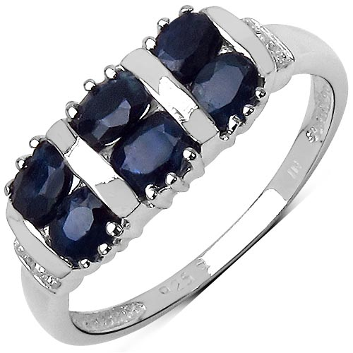 Sapphire Black: + Topaz White:Round/0.90mm 2/0.01 ctw #29558v3