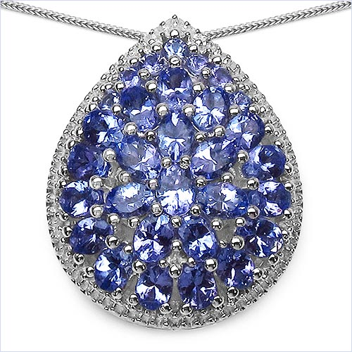 Tanzanite:Oval/4x3mm 23/3.91 ctw + Tanzanite:Round/2.00mm 7/0.25 ctw #29851v3
