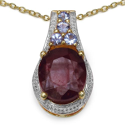 Ruby Glass Filled:Oval/12x10mm 1/5.25 ctw + Tanzanite:Round/3.00mm 1/0.10 ctw + Tanzanite:Round/2.40mm 3/0.21 ctw #29938v3