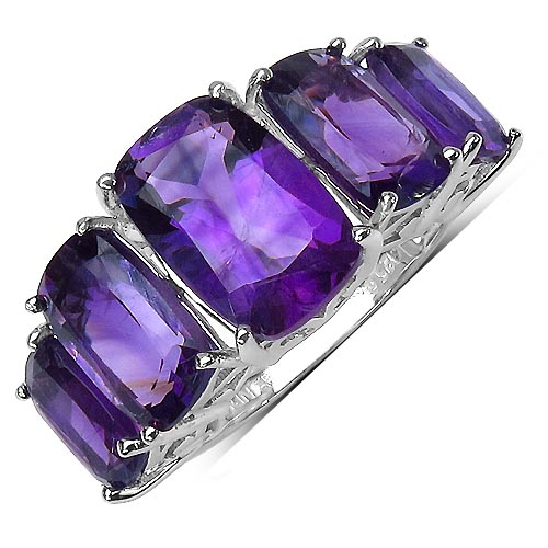 Amethyst:Cushion/ 12x8mm + Amethyst:Cushion/ 10x6mm + Amethyst:Cushion/ 8x5mm 2/2.60 ctw #29560v3