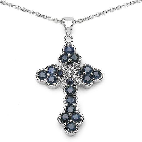 Sapphire Blue:Round/3.00mm 15/1.95 ctw + Sapphire Blue:Round/2.00mm 4/0.18 ctw + Diamond White:Round/1.00mm 1/0.01 ctw #29823v3
