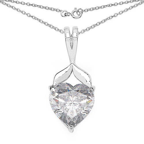 Cubic Zirconia White:Heart/8.00mm 1/3.22 ctw #29738v3