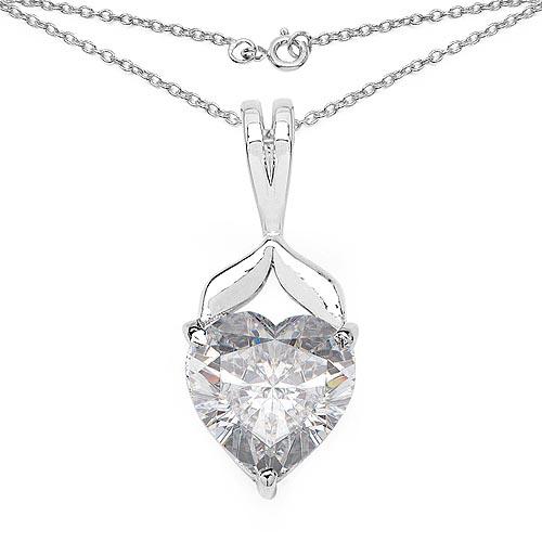 Cubic Zirconia White:Heart/8.00mm 1/3.22 ctw #29738v3