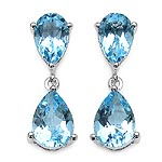 Topaz Blue:Pears/10x7mm 2/3.80 ctw + Topaz Blue:Pears/9x6mm 2/2.60 ctw #28048v3