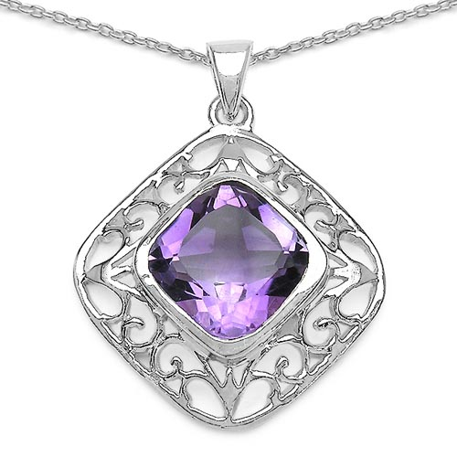 Amethyst:Cushion/11.00mm 1/5.10 ctw #29833v3