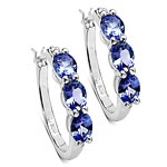 Tanzanite:Oval/5x4 6/1.98 ctw + Diamond White:Round/1.00 mm 2/0.01 ctw #28113v3