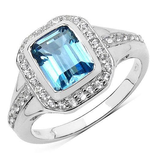 Blue Topaz(London): + Topaz White:Round/1.10mm 38/0.34 ctw #29628v3