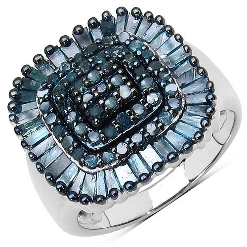 Diamond Blue:Round/1.25mm 49/0.52 ctw + Diamond Blue:Baguette/2.50x1.50x1.10mm 37/0.81 ctw #29631v3