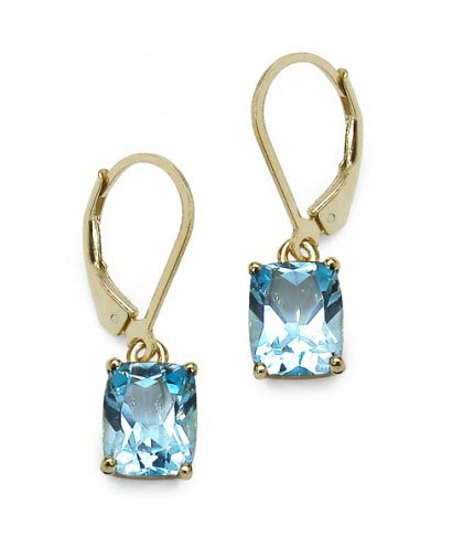 Topaz Blue:Cushion/9x7mm 2/3.6 ctw #28051v3