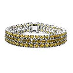 Sapphire Yellow:Oval/4x3mm 131/32.75 ctw #28073v3