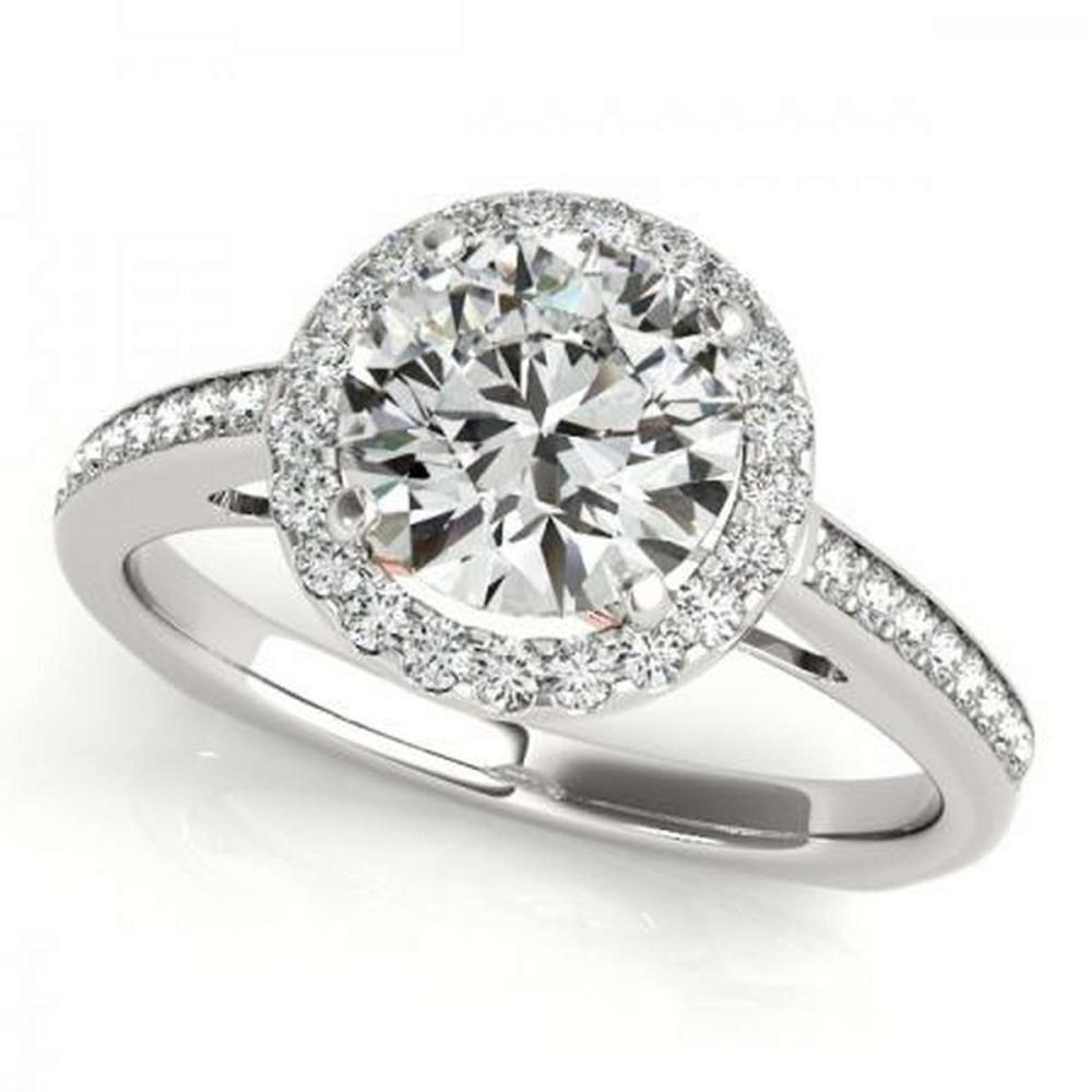 CERTIFIED PLATINUM 1.16 CTW G-H/VS-SI1 DIAMOND HALO ENGAGEMENT RING #IRS86190