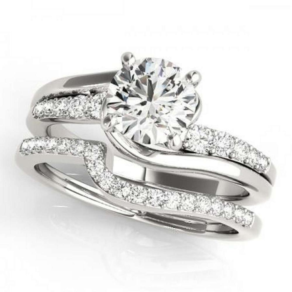 CERTIFIED PLATINUM 1.31 CTW G-H/VS-SI1 DIAMOND BRIDAL SET #IRS86732