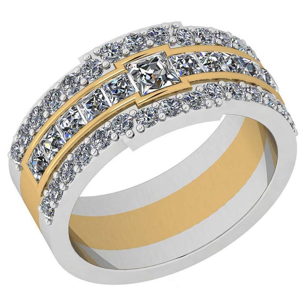 Certified 1.41 Ctw Diamond I1/I2 Two-Tone Engagement 18K White And Yellow Gold Ring #IRS28563