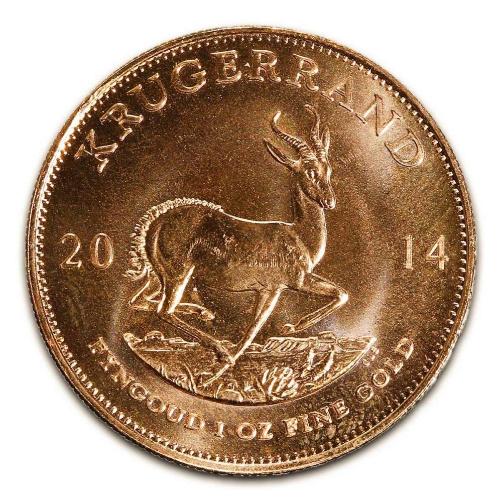 South Africa Gold Krugerrand 1 Ounce 2014 #IRS25042