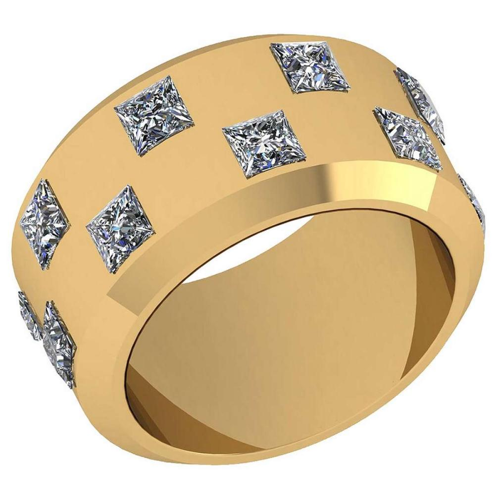 Certified 2.88 Ctw Diamond VS/SI1 18K Yellow Gold Band #IRS26430
