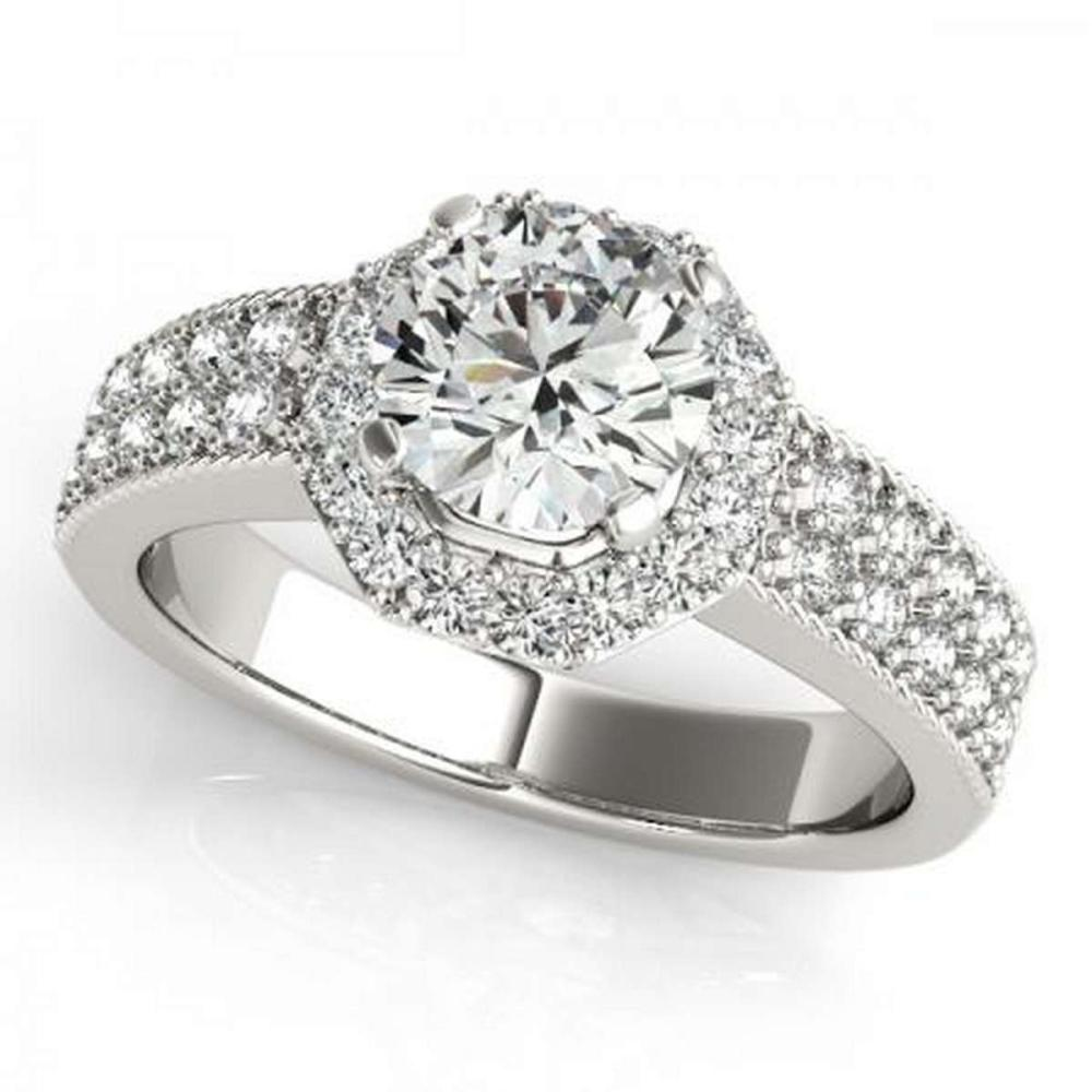 CERTIFIED PLATINUM 1.01 CTW G-H/VS-SI1 DIAMOND HALO ENGAGEMENT RING #IRS86187