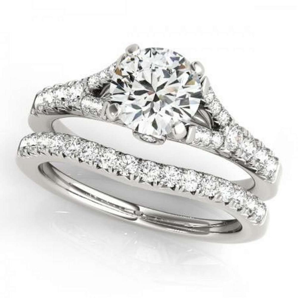 CERTIFIED 18KT WHITE GOLD 1.16 CTW G-H/VS-SI1 DIAMOND BRIDAL SET  #IRS86752