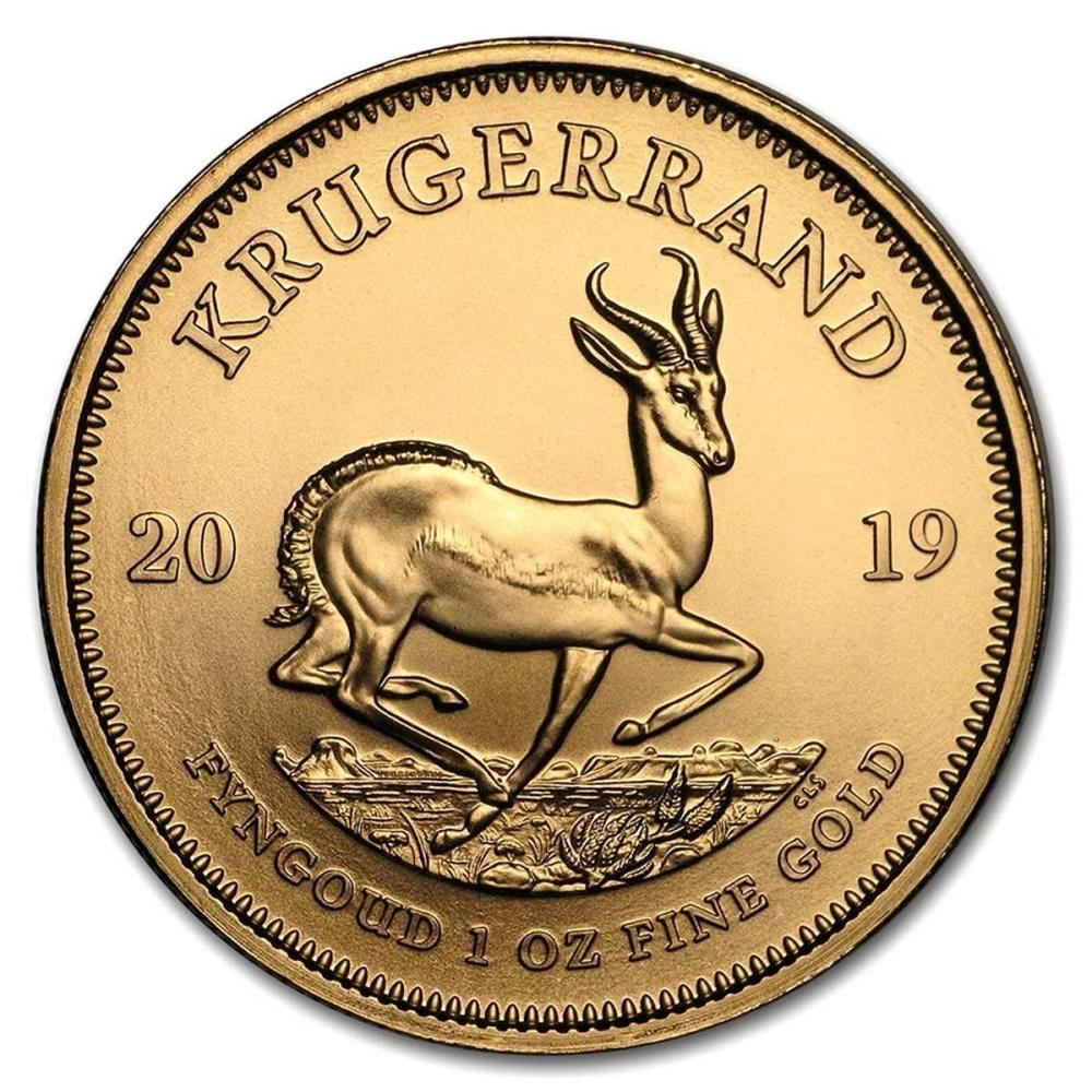 South Africa Gold Krugerrand 1 Ounce 2019 #IRS25036
